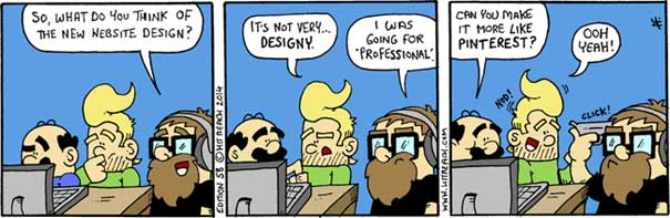 webdesign trends comic