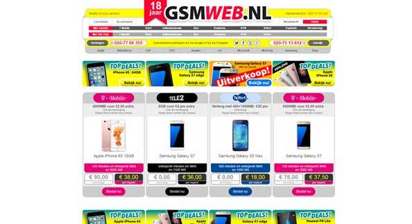 gsm web webshop design