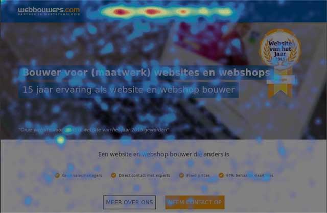 mijn webshop loopt niet heatmap