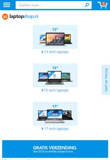 responsive webshop coolblue