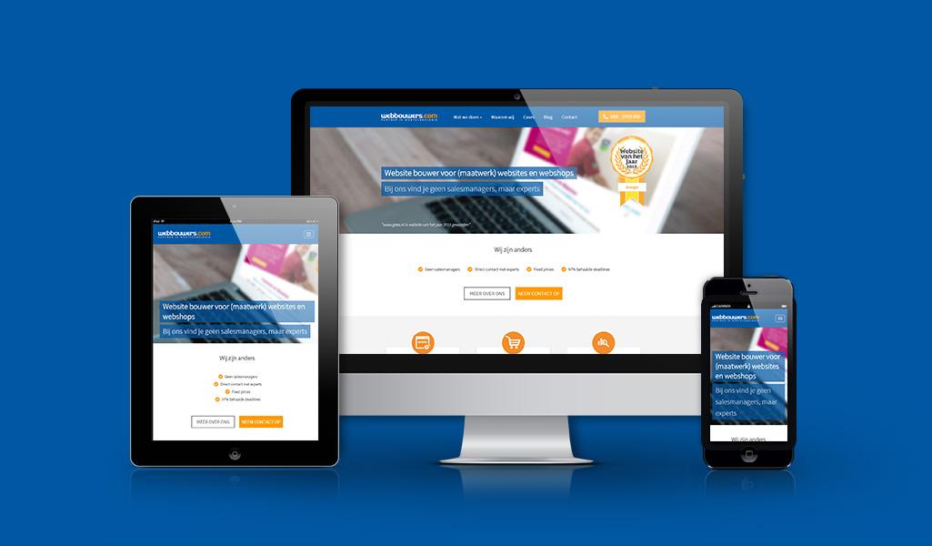 een responsive website