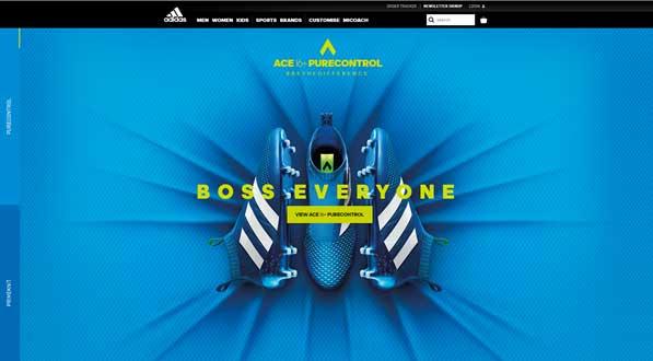 webshop design adidas