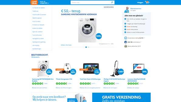 webshop design coolblue
