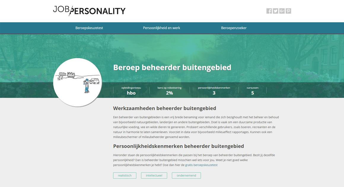 beroeppagina jobpersonality
